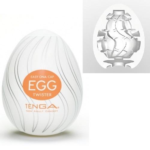 Tenga, Япония Мастурбатор № 4 Стимулятор яйцо Twister, egg-004