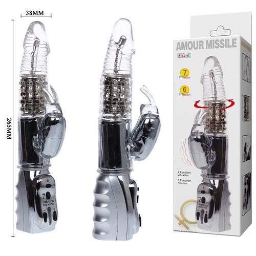 Liaoyang Baile Health Care Product Co. Ротатор - вибромассажер со стимулятором клитора BW-033785-0702