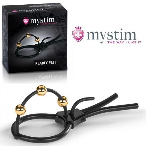 -Mystim GmbH (Германия) Электросбруя Mystim Pearly Pete на головку пениса с тремя шариками электродами 46586