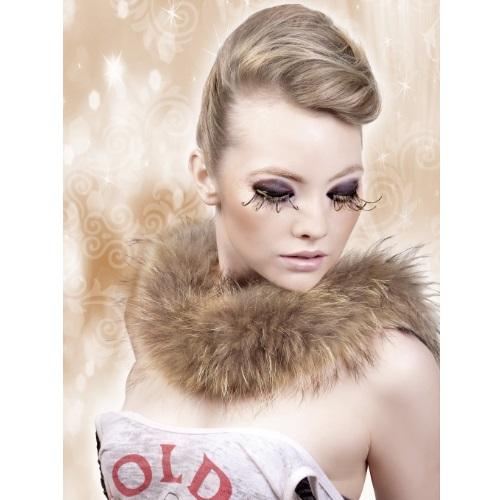 -Baci Lingerie Lashes Collection Ресницы коричнево-золотые  перья, BL496
