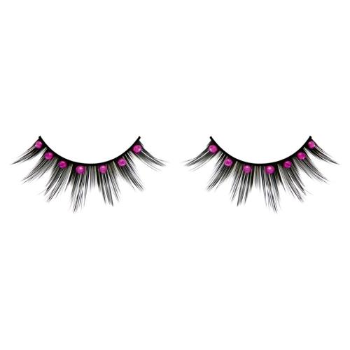 -Baci Lingerie Lashes Collection Ресницы чёрные с розовыми  стразами, BL501