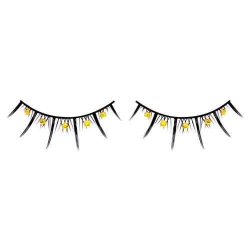 -Baci Lingerie Lashes Collection Ресницы чёрные с жёлтыми стразами, BL503