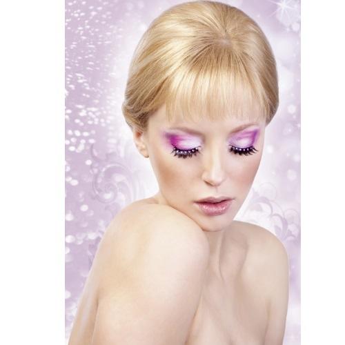-Baci Lingerie Lashes Collection Ресницы чёрные с розовыми  стразами, BL505