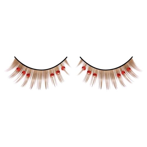 -Baci Lingerie Lashes Collection Ресницы коричневые с красными стразами, BL513