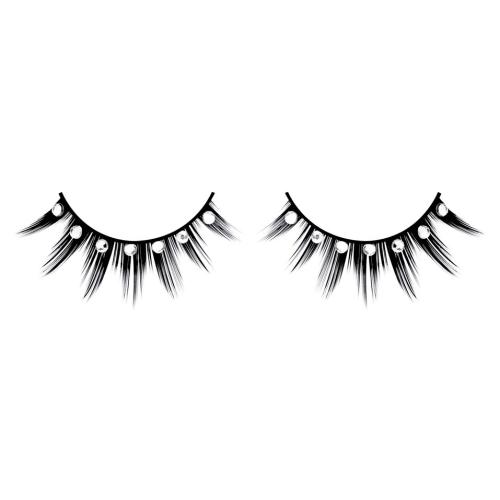 -Baci Lingerie Lashes Collection Ресницы чёрные с серебрянными  стразами, BL516