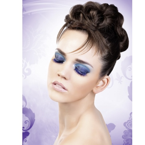 -Baci Lingerie Lashes Collection Ресницы сине-фиолетовые длинные, BL523