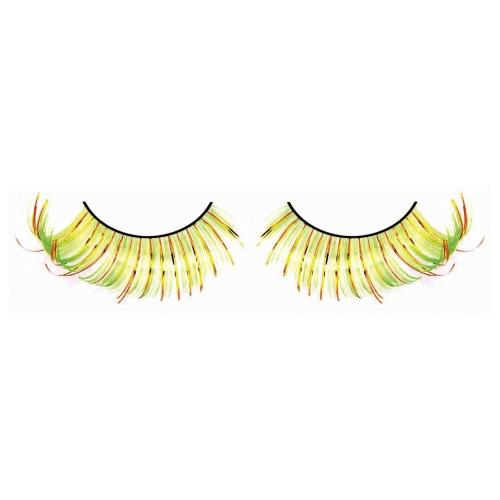 -Baci Lingerie Lashes Collection Ресницы жёлто-оранжево-зеленые, BL538