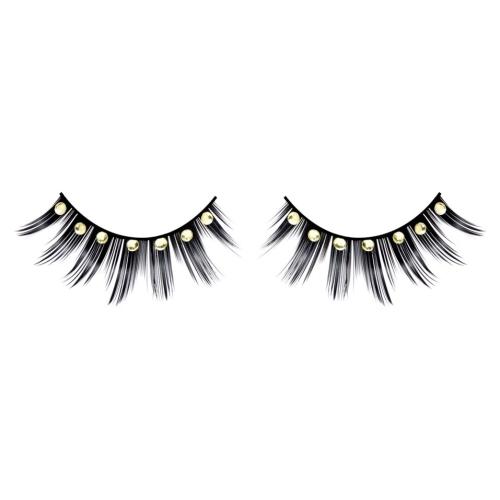 -Baci Lingerie Lashes Collection Ресницы чёрные с жёлтыми стразами, BL572