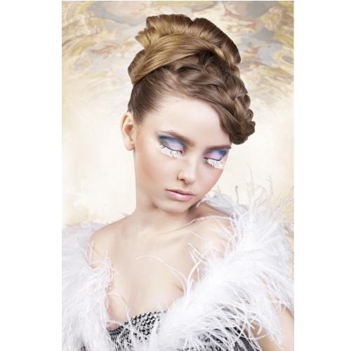 -Baci Lingerie Lashes Collection Ресницы белые  перья, BL599