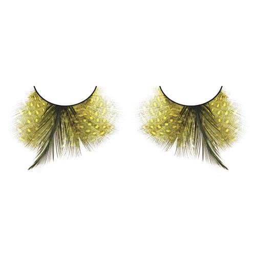 -Baci Lingerie Lashes Collection Ресницы жёлтые  перья, BL602
