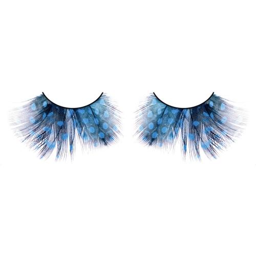 -Baci Lingerie Lashes Collection Ресницы голубые  перья, BL612
