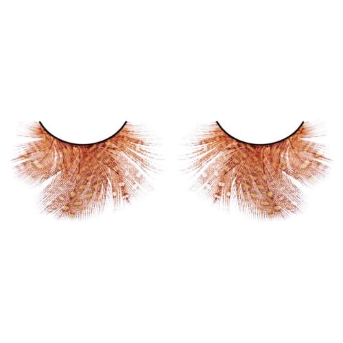 -Baci Lingerie Lashes Collection Ресницы оранжево-красные  перья, BL617