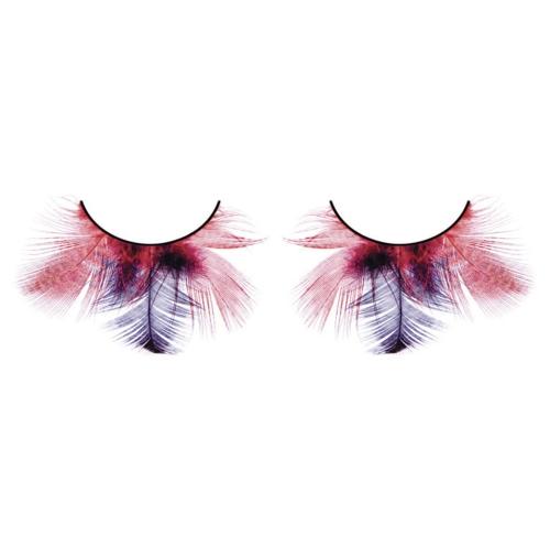 -Baci Lingerie Lashes Collection Ресницы красно-фиолетовые  перья, BL622