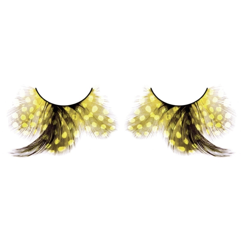 -Baci Lingerie Lashes Collection Ресницы жёлтые  перья, BL627