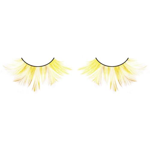 -Baci Lingerie Lashes Collection Ресницы жёлтые  перья, BL640