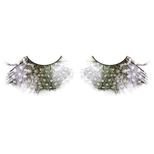 -Baci Lingerie Lashes Collection Ресницы коричнево-зелёно-фиолетовые  перья, BL641