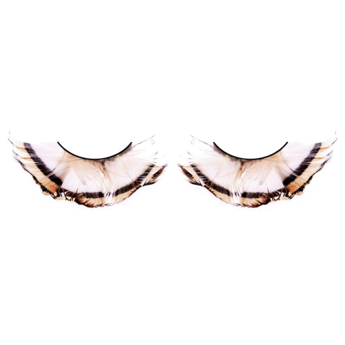 -Baci Lingerie Lashes Collection Ресницы бежево-коричневые  перья, BL646