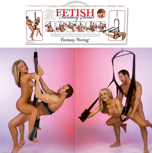 Секс-качели fantasy swing черные
