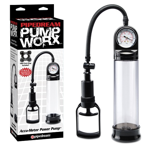 -Pipedream Помпа мужская Accu-Meter Power Pump черная, PD3272-23