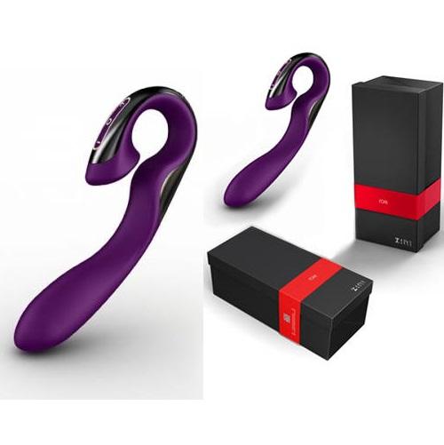 Вибромассажер ZINI ROAE фиолетовый с черным ZV016