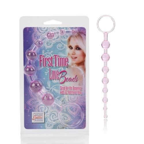 California Exotic Novelties Анальная цепочка First Time Love Beads розовая SE-0004-31-2
