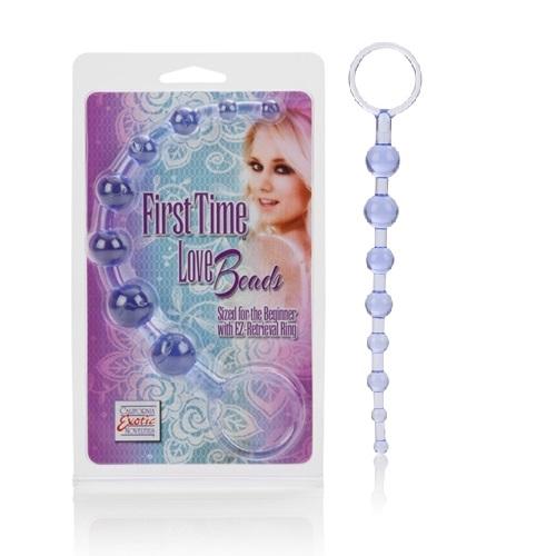 California Exotic Novelties Анальная цепочка First Time Love Beads фиолетовая SE-0004-32-2