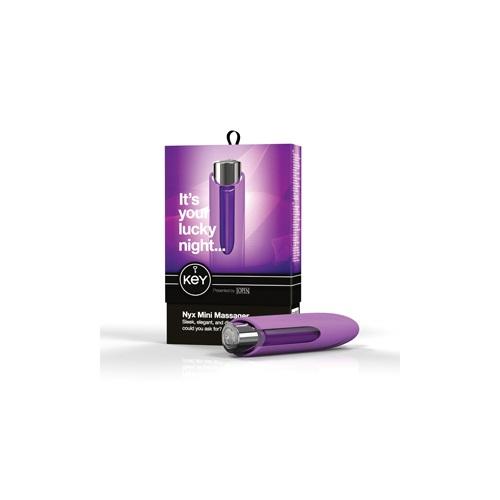 KEY, США Мини-массажер NYX фиолетовый, SE-JO-8045-10