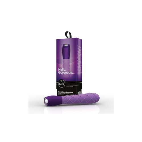 KEY, США Вибромассажер ажурный CERES LACE фиолетовый, SE-JO-8051-10