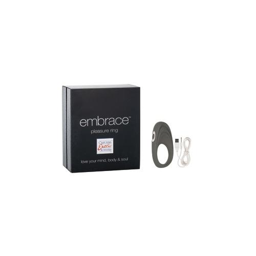 -Embrace_California Exotic Novelties Перезаряжаемое эрекционное кольцо с вибро-стимулятором Embrace Pleasure Ring серое, SE-4616-10