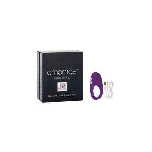 -Embrace_California Exotic Novelties Перезаряжаемое эрекционное кольцо с вибро-стимулятором Embrace Pleasure Ring фиолетовое, SE-4616-15