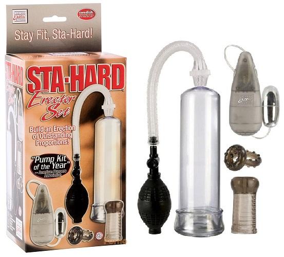 California Exotic Novelties Вакуумная помпа Sta-Hard Erector Set в наборе кольцо, мини-мастурбатор и вибро-яичко, se-1024-00-3