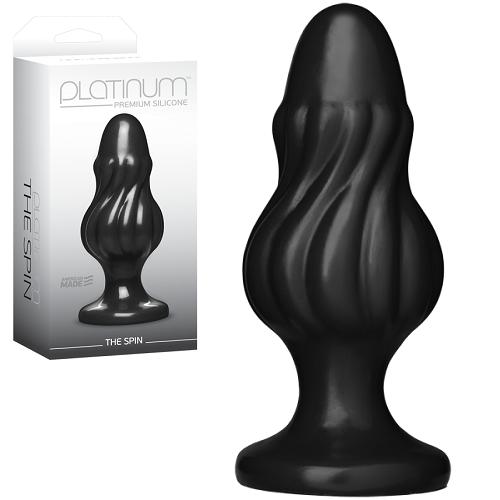 -Doc Johnson Enterprises Анальная пробка Platinum Premium Silicone The Spin черная dj0103-26bx