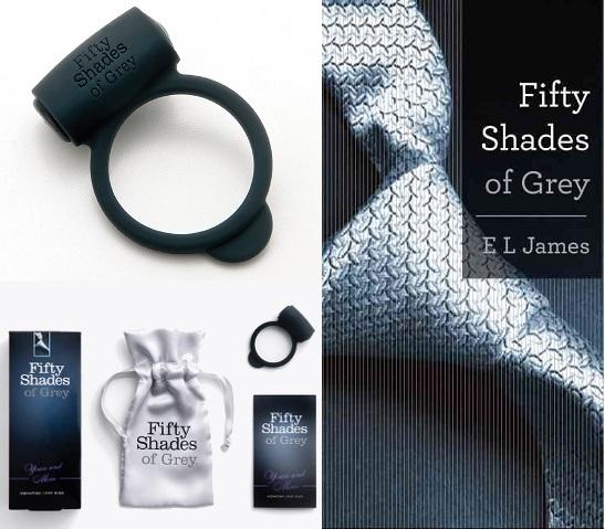 Fifty Shades of Grey Эрекционное кольцо Vibrating Love Ring с вибрацией черное fs-40170