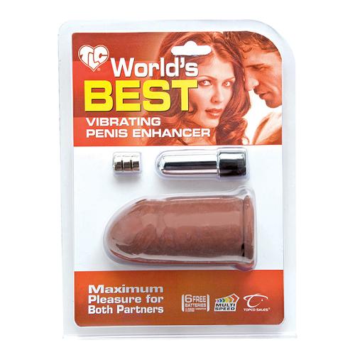 -Topco Sales  USA Насадка удлинитель с вибрацией коричневая, 1006019 TS