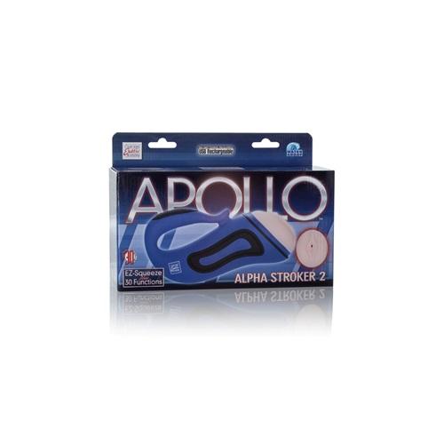 California Exotic Novelties Мастурбатор-вагина Apollo Alpha Stroker Alpha Stroker 2 с вибрацией голубой, SE-0848-60-3