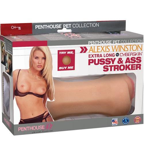 -Topco Sales Мастурбатор  вагина+анус Alexis Winston, телесная, 1097018