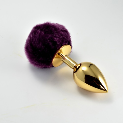 -LoveToy, Китай Анальная втулка Gold с черным хвостиком, LOVETOY, ro-l025s-2