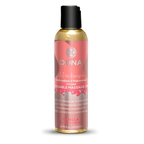 -SYSTEM JO Products Вкусовое массажное масло  DONA Kissable Massage Oil Vanilla Buttercream, JO40538