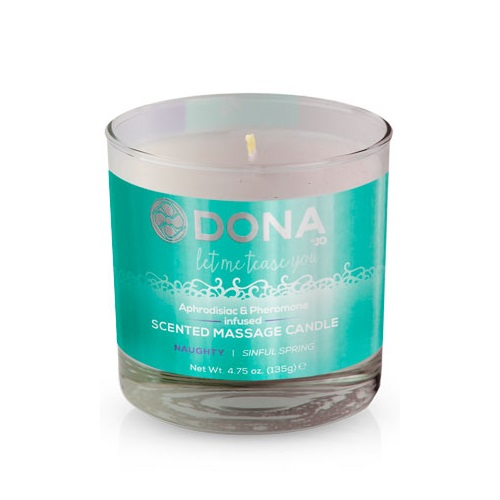 -SYSTEM JO Products Массажная свеча DONA Scented Massage Candle Naughty Aroma: Sinful Spring, JO40558