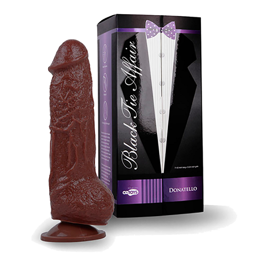 Topco Sales, США Фалоимитатор на присоске коричневый , DISCONTINUE - Skinsation Black Tie Affaire Donatello, 1600177