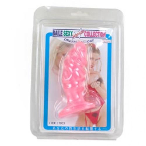 Liaoyang Baile Health Care Product Co. Анальная пробка-фаллос розовый, BI-017003-0101