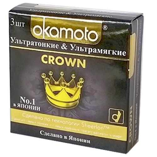 Okamoto, Япония Презервативы Okamoto Crown № 3, Ok-26202