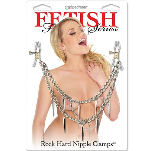 PipeDream, США Зажимы на соски  Fetish Fantasy Series Rock Hard Nipple Clamps - Silver, 3624-26