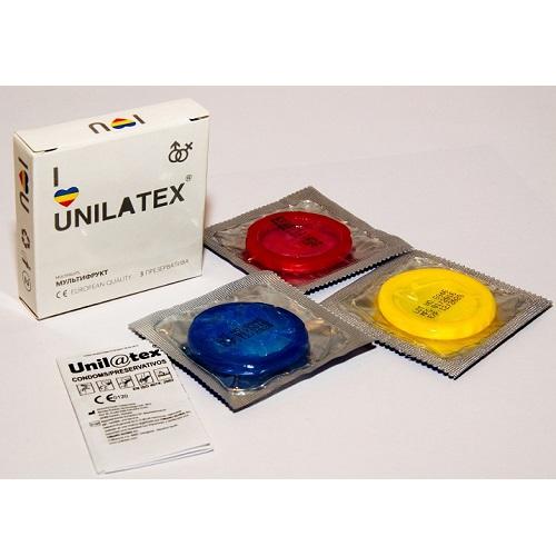 Unilatex, Испания Презервативы ароматизированные цветные Unilatex Multifruits 3 шт., 3003