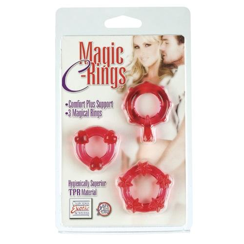 -California Exotic Novelties, Америка Набор эрекционных колец Magic C-rings - Red, SE-1429-30-2