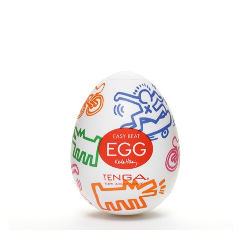 Tenga, Япония Мастурбатор яйцо Street TENGA Keith Haring Egg  khe-001