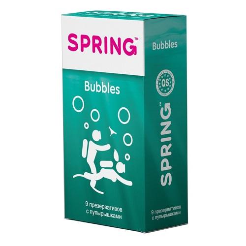 Spring, Китай Презервативы SPRING Bubbles, 9 шт.упаковка (с пупырышками), 00203