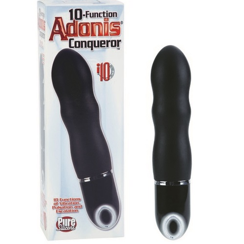 California Exotic Novelties Вибромассажер 10-Function Adonis Conqueror BLACK, SE-0415-20-3