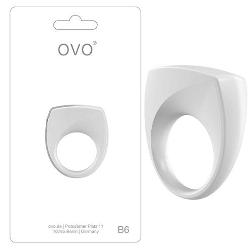 Эрекционное Вибро-кольцо OVO B6 VIBRATING RING WHITE, OVOB69109