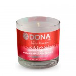 Вкусовая массажная свеча  DONA Kissable Massage Candle Strawberry Souffle, JO40568